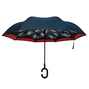 Galaxy Flower Double Layer Inverted Umbrella